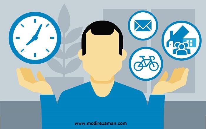 مدیریت زمان و لیست کارهای ناقص
