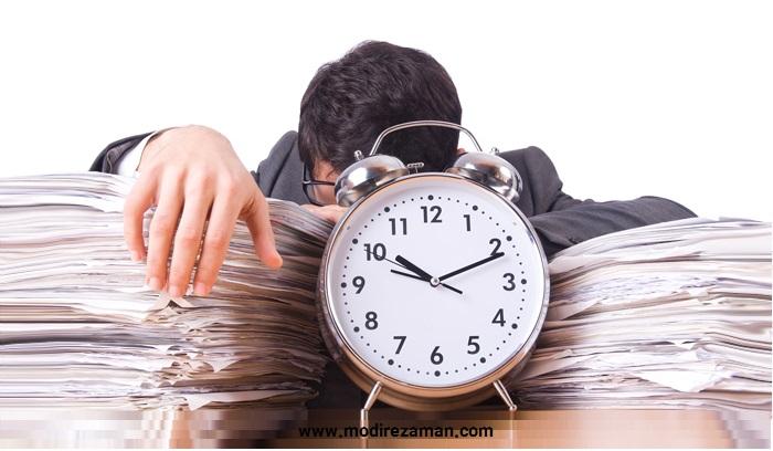 مدیریت زمان-خیلی کارها را نمی توان انجام داد